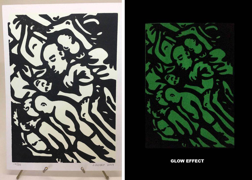 """""""Human"""" silkscreen & letterpress print"""