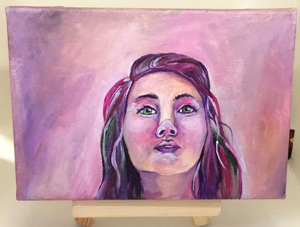 untitled acrylic on canvas panel painting