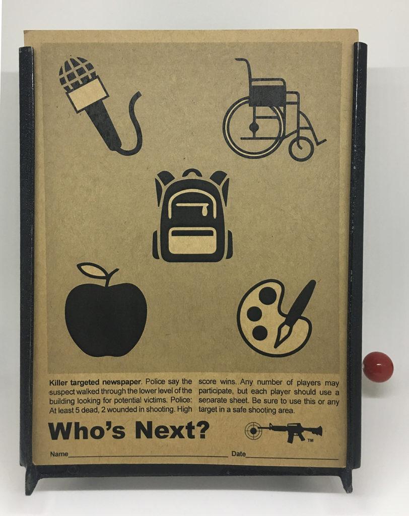 """""""Who's Next?"""" 2018 mixed media artwork"""