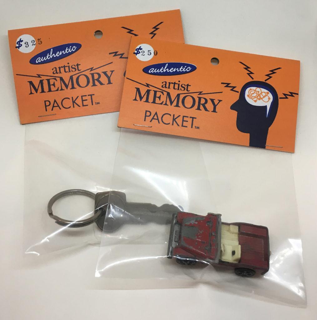 """Artist Memory Packet"" mixed media artwork"