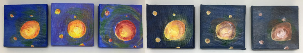 """""""Not the same, but..."""" acrylic paintings"""