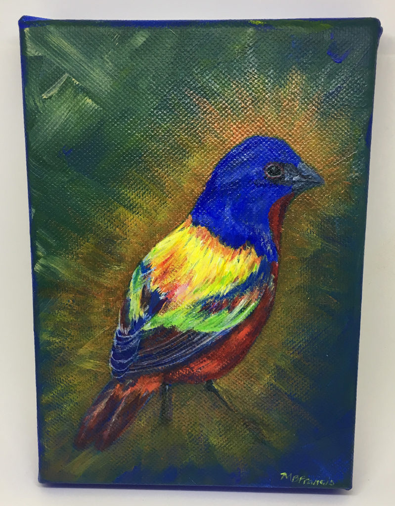 """Brilliant"" acrylic painting"