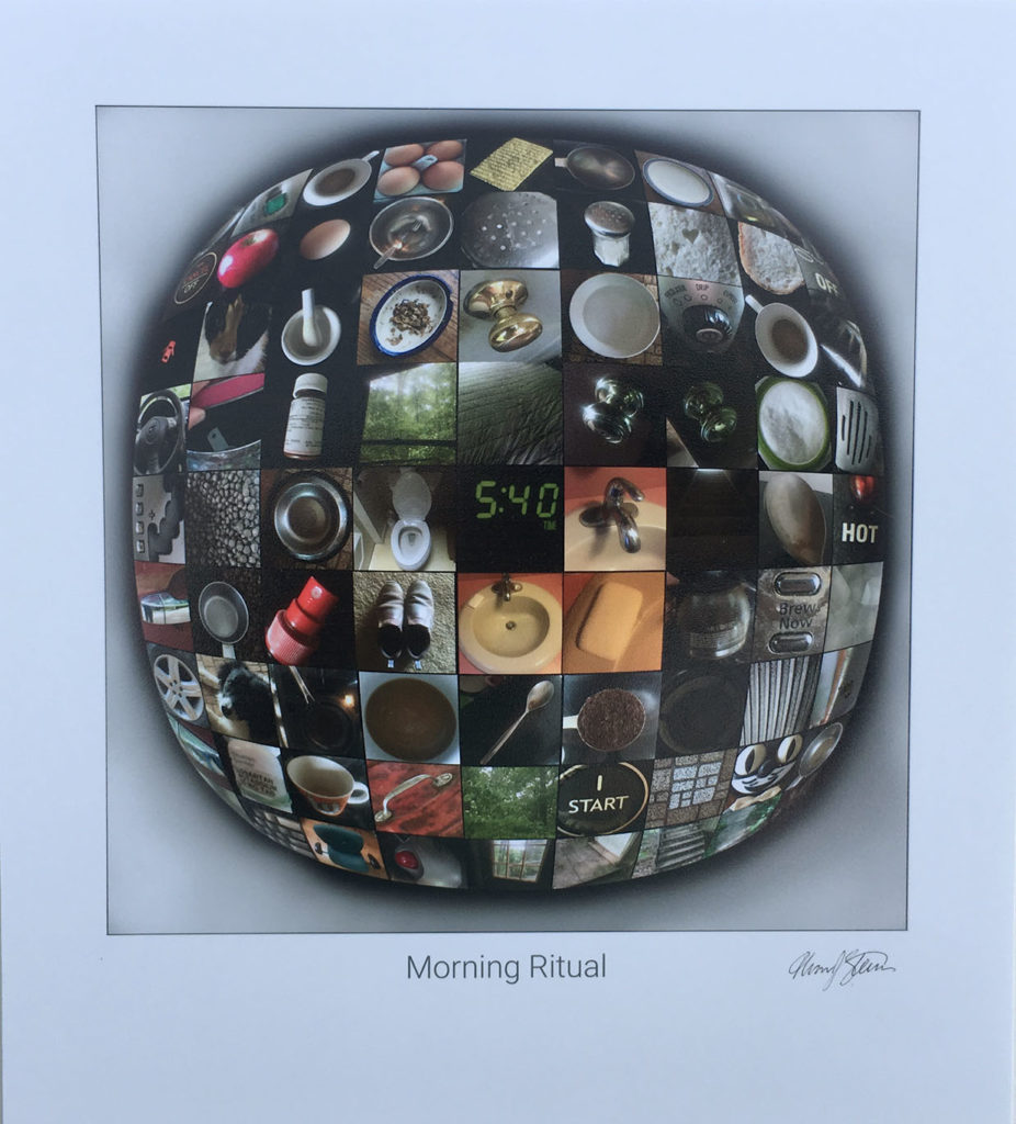 """Morning Ritual"" digital photo collage on card stock"