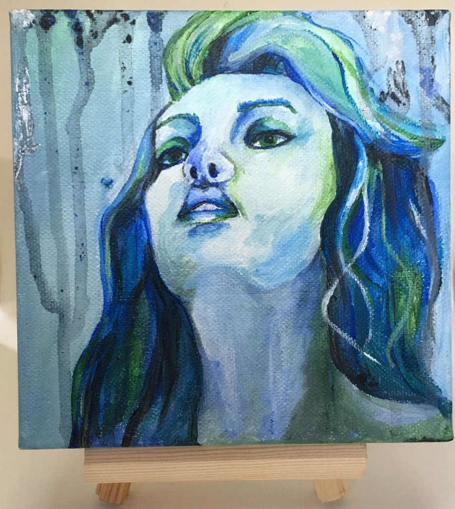 """""""Woman"""" acrylic on canvas panel painting"""