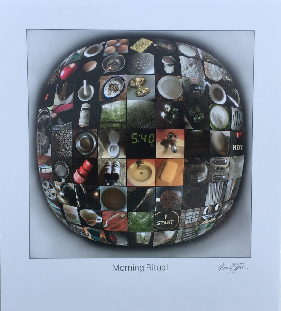 """Morning Ritual"" digital photo collage on card stock"