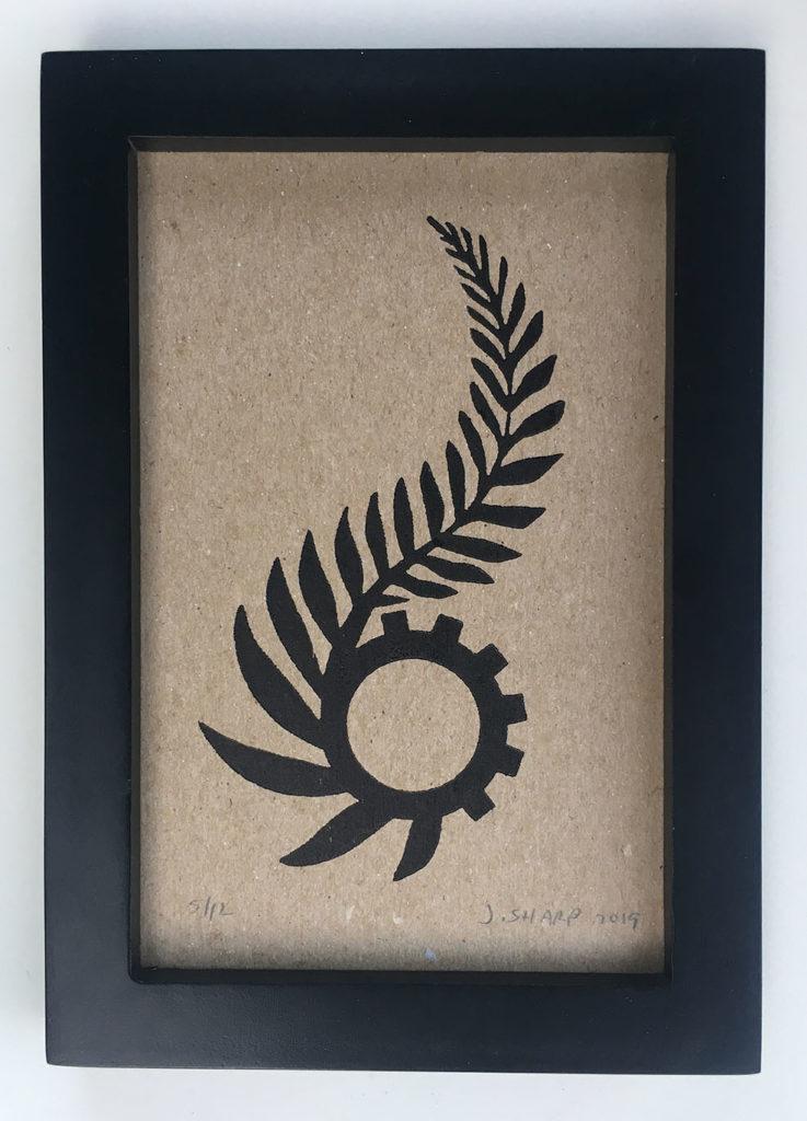 """Techno Primitive"" letterpress print"