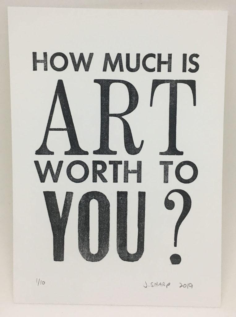 """""""Starving Artist"""" letterpress print"""