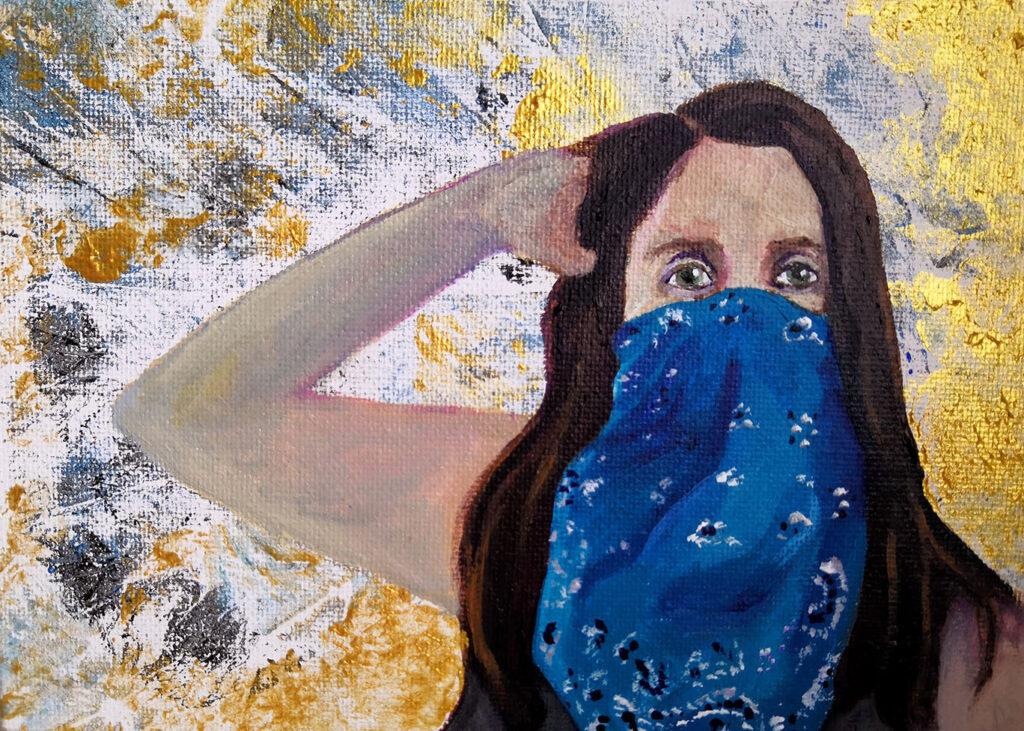 """Quarantined"" acrylic painting"